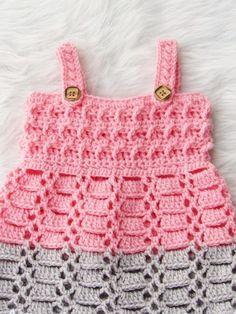 Cotton Candy Jumper, Crochet Baby Dress Pattern