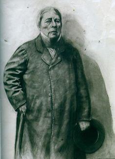 Portrait d'Ingres d'après Carjat - Ernest Pignon-Ernest