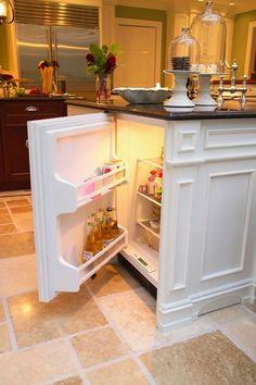 Hidden Refrigerator Built In CounterTop