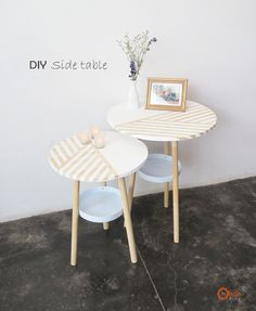 Ohoh Blog - diy and crafts: DIY Side tables