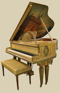 French Baby Grand Piano   by Gaveau of Paris.  A bit over the top for your living room but is truly a work of art