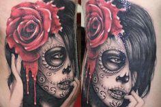 Sugar Skull Tattoo Idea