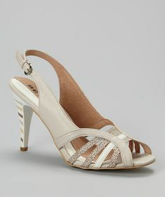 Look what I found on #zulily! Beige Open Toe Slingback by BÉTSY #zulilyfinds