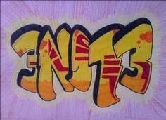 les graffitiletters met site om zelf je eigen naam in graffiti te schrijven + opslaan mogelijk