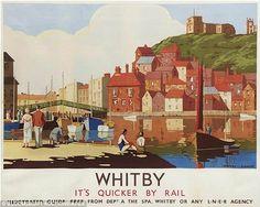 Whitby railway poster