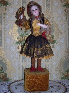 Leopold Lambert Jumeau automaton, representing a Spanish Dancer playing her tambourine! Circa 1880 -1890's.