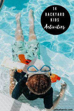 Spending more time this Summer in the backyard. Try these 14 activities with the kids that you will all love. | #kidsactivities #summeractivities #summerfun #kidsfun #pool #kids #outdooractivities Summer Activities For Kids, Activities To Do, Summer Kids, Outdoor Activities, Kids Play Spaces, Outdoor Movie Nights, Kid Pool, Backyard Play, Pool Days