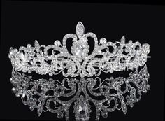 High Quality Shining Beaded Crystals Wedding Crowns Bridal Veil Tiara Crown Headband Hair Accessories Party Wedding Tiara Images Of Bridal Hair Jewelry Hair Accessories From K281930785, $7.91| Dhgate.Com