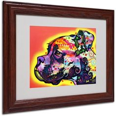 Trademark Fine Art Profile Boxer Canvas Art by Dean Russo, Wood Frame, Size: 16 x 20, Multicolor