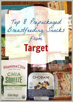 That moment when you just need to grab and eat quickly while nursing your baby, here are the top 8 prepackaged breastfeeding snacks from Target where you can choose what snacks to buy.