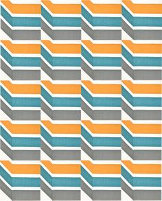 Optical Illusion of Perspective from Modern Block of the Month (BOM) via Sew, Mama, Sew!