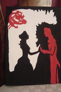 MY painting of a drawing. Beauty and the Prince Inside