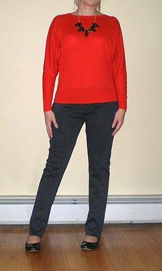 Bashful Fashionista | dolman sweater, skinny dress pants