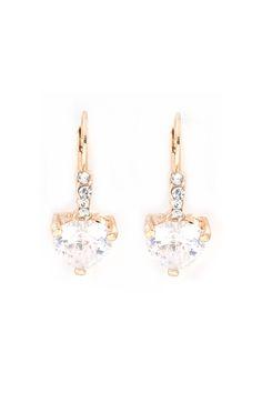 Classic Crystal Heart Earrings