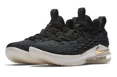 on sale 16a30 76712 The Nike LeBron 15 Low Black Metallic Gold is featured in its official  imagery and it s dropping at Nike stores on May