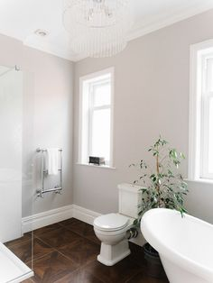 My bathroom tour and 5 ways to create the hotel bathroom look at home Taupe Bathroom, Bathroom Paint Colors, Grey Bathrooms, Small Bathroom, Bathroom Modern, Dulux Paint Colours Uk, Master Bathroom, Bathroom Green, Necklaces