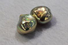 a pair of baroque freshwater pearls