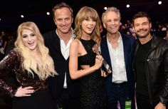 Taylor, Meghan Trainor, Ryan Seacrest, John Sykes and Tom Poleman at the 2015.