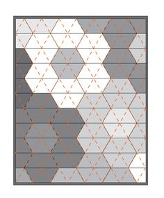 Stitch as shown in diagram below. This will create perfect triangles that compliment the quilt's pattern. However, you can go nuts and do anything you like!