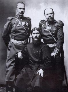 Rasputin, Major General Putyatin and Colonel Lotman, 1904. Photo by Karl Bulla.