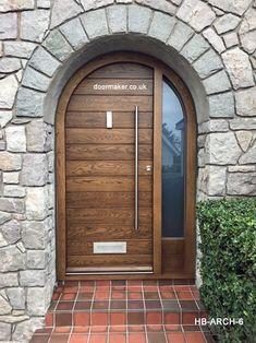 Arched Front Door, Victorian Front Doors, Front Door Porch, House Front Door, Cottage Style Doors, House Extension Design, House Design, Modern Entrance Door, Contemporary Front Doors