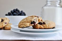 Just returned with tons of berries from the Farmers Market; this is one way they will be used!  Brown Sugar Blueberry Cookies
