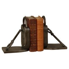 Padlock Bookends (Set of 2) at Joss and Main