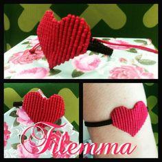 Macramé bracelet heart by filemma