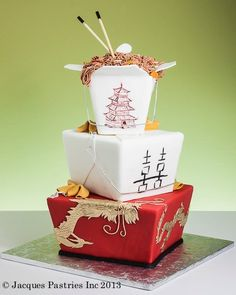 """Chinese """"takeout"""" cake"""