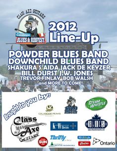 We've got 2 of Canada's best blues bands! Blue Band, Upcoming Events, Ottawa, Lineup, Summer Fun, Ontario, Festivals, Blues, Concerts