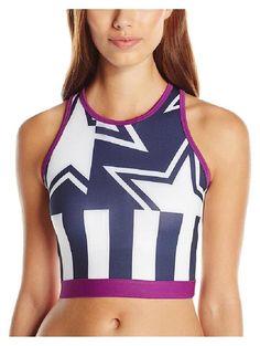 29282a1107537 NWT Stella Mccartney Adidas Crop Top Stars Stripes USA Sports Bra Yoga  Women s M  StellaMcCartney