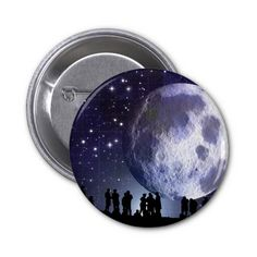 Planetarium Silhouettes Moon Stars Astronomy Pinback Buttons SOLD on Zazzle