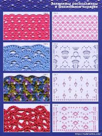 Knitting world & Crochet Crochet Motifs, Crochet Yarn, Easy Crochet, Crochet Stitches, Free Crochet, Crochet Patterns, Knit World, French Pattern, Knitting Stiches