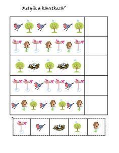 birds pattern for kıds Free Preschool, Preschool Worksheets, Preschool Learning, Cicely Mary Barker, Bird Patterns, Working With Children, Fun At Work, Special Education, Kindergarten