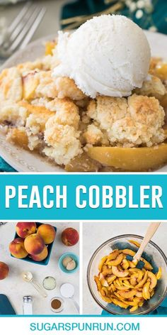 A juicy, made-from-scratch Peach Cobbler recipe made with fresh peaches and a thick, slightly sweetened cobbler topping! Recipe includes a how-to video!