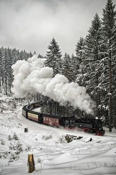 snow winter train Germany Black Forest