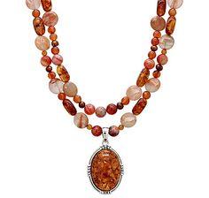 Barse Studio Twining Amber Necklace Pendant