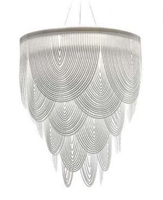 Art deco design inspiration for logo- Ceremony chandelier by Slamp, designed by Bruno Rainaldi