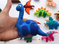 DINOSAURS felt Magnets Price per 1 item Dinosaurs