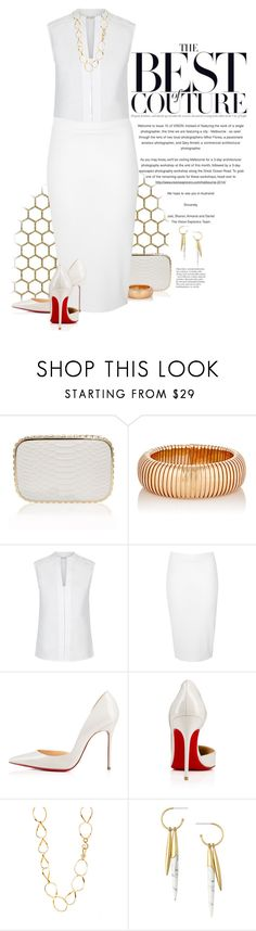 """""""The All White Party"""" by dawn-scott ❤ liked on Polyvore featuring Sidney Garber, Hobbs, Glamorous, Stephanie Kantis, Stella & Dot, allwhite, plussize, redbottoms, plussizefashion and thepluslife"""
