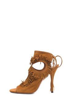 Aquazzura #sexything #fringe #heel #cutout #boho #wildwest