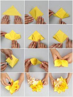 Origami Blume basteln: Kreative Idee zum Muttertag