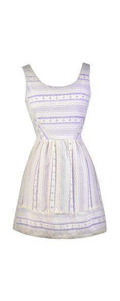 Lily Boutique Purple Peek Ivory Lace Sundress