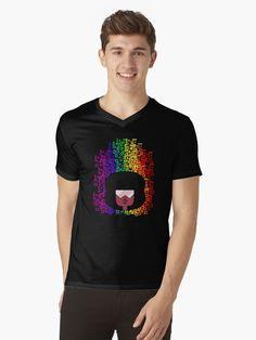 Steven Universe fan art design featuring crystal gem Garnet in a pride rainbow graphic Rainbow Pride, Men's Apparel, Steven Universe, Tshirt Colors, Chiffon Tops, Garnet, Gem, Classic T Shirts, Latest Trends