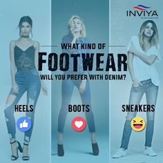 Fashion Quiz, Denim Heels, Heeled Boots, Footwear, Sneakers, High Heel Boots, Tennis, Slippers, Heel Boots