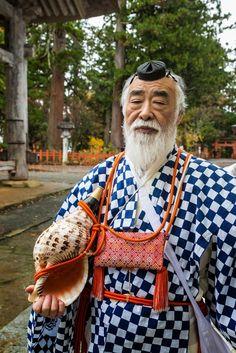 #yamabushi mountain priest pictured after a morning meditation service #Japan