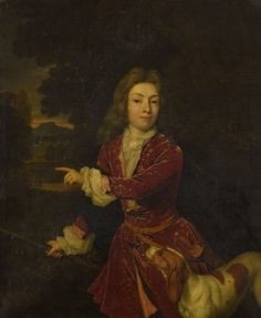 Caspar Netscher (vers 1635-1684), Le Jeune Chasseur et son chien, huile sur toile, 51,5 x 44 cm. Adjugé : 48 333 € Mardi 22 novembre, salle 14 - Drouot-Richelieu. Oger - Blanchet OVV. M. Millet.
