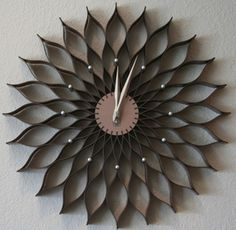Love this clock! It's a remake of the classic Sunflower Clock by artist George Nelson. This one is much more affordable than the real thing. Target Wall Decor, Sunflower Kitchen, Pretty Packaging, Diy Home Crafts, Mid Century Modern Design, Ranch Style, Inspired Homes, Rustic Decor, Clock