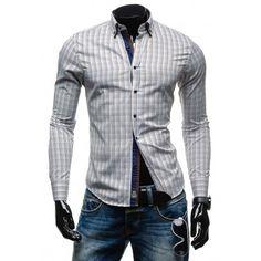 Hnedé pánske košele s dlhým rukávom - fashionday.eu Shirt Dress, Blazer, Mens Tops, Jackets, Shirts, Dresses, Fashion, Down Jackets, Vestidos