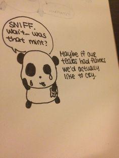 Sad Panda and the taste of tears
